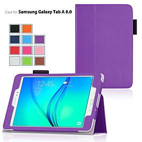 voordelige Galaxy Tab A 9.7 Hoesjes / covers-hoesje Voor Samsung Galaxy / Tabblad Een 8.0 / Tabblad Een 9.7 met standaard / Flip Volledig hoesje Effen PU-nahka