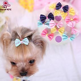 voordelige Honden Sieraden & Accessoires-Kat Hond Haaraccessoires Strikken Hondenkleding Geel Blauw Roze Kostuum Gemengd Materiaal Cosplay Bruiloft