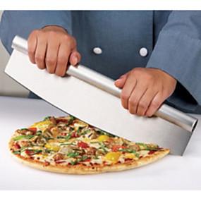 Χαμηλού Κόστους Κουζίνα και τραπεζαρία-ανοξείδωτο χάλυβα κόφτη πίτσα - 14 ιντσών στυλ rocker λεπίδα