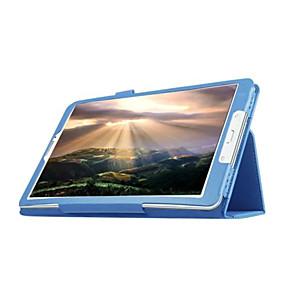 olcso Galaxy Tab E 9.6 tokok-Case Kompatibilitás Samsung Galaxy Tab E 9.6 Állvánnyal / Flip Héjtok Egyszínű PU bőr