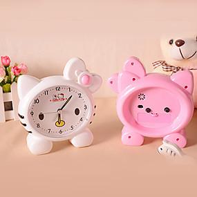 cheap Home Supplies-Cute Pink Cat Alarm Clock Cartoon Minions Alarm Clock (Random Color)