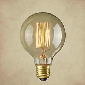 ieftine Lămpi Cu Filament LED-1 buc 40 W E26 / E26 / E27 G80 Alb Cald 2300 k Incandescent Vintage Edison bec 220-240 V / 110-130 V