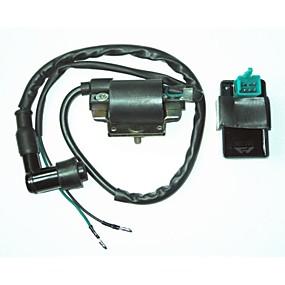 Недорогие Запчасти для мотоциклов и квадроциклов-универсальный катушка зажигания + 5-контактный переменного тока CDI ящик для Хонда грязи Питбайк 110cc