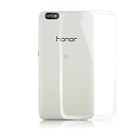 Недорогие Чехлы и кейсы для Huawei Honor-Кейс для Назначение Huawei Honor 4X / Huawei Huawei Honor 4X / Huawei Прозрачный Кейс на заднюю панель Однотонный Мягкий ТПУ