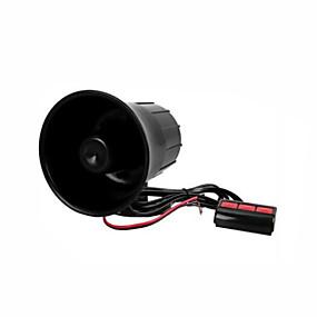 olcso Autóriasztók-fekete műanyag auto autó hangszóró fekete figyelmeztetnek hangos kürt trombita
