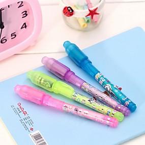 olcso Obsolete Products-3 db fényes, láthatatlan, tinta toll 2 az 1-ben, ellenőrizze a gyerekeket, akik titkos tanulási oktatási mágikus tollokat rajzolnak