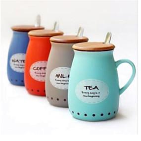 رخيصةأون الحديقة والمنزل-DRINKWARE أواني الشرب الطريفة / أكواب الشاي خزفي جميل حفلة شاي