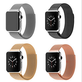 cheap Shop by Phone Model-Milanese Loop Band for Apple watch 44mm 40mm 42mm 38mm Link Bracelet Strap Stainless Steel Mesh Metal Loop with Adjustable Magnetic Closure Replacement Bands Compatible with Iwatch Series 5 4 3 2 1