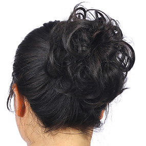 cheap Health & Beauty-hot stylish pony tail women clip in on hair bun hairpiece synthetic hair extension scrunchie