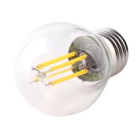 povoljno LED žarulje s nitima-1pc 4 W LED filament žarulje 360 lm E26 / E27 G45 4 LED zrnca COB Ukrasno Toplo bijelo Hladno bijelo 220-240 V / 1 kom. / RoHs