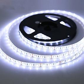 povoljno LED i rasvjeta>>-zdm vodootporan 5m 300 leda 3528 smd 8mm topli bijeli hladni bijeli crveni plavi zeleni rezni dc12 v ip65 samoprianjajući