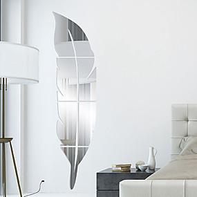 رخيصةأون ملصقات ديكور-أشكال 3D ملصقات الحائط ملصقات الحائط على المرآة لواصق حائط مزخرفة, الفينيل تصميم ديكور المنزل جدار مائي جدار