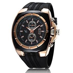 Недорогие Фирменные часы-V6 Муж. Армейские часы Наручные часы Морские часы с печатью Кварцевый Японский кварц Pезина Черный Повседневные часы Аналоговый Кулоны - Белый Черный Два года Срок службы батареи / Mitsubishi LR626