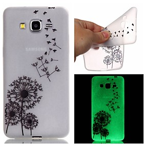 voordelige Galaxy Core Prime Hoesjes / covers-hoesje Voor Samsung Galaxy J3 / J1 Ace / Grand Prime Glow in the dark / Patroon Achterkant Paardebloem TPU