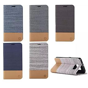 voordelige Galaxy S6 Edge Plus Hoesjes / covers-hoesje Voor Samsung Galaxy S6 edge plus / S6 edge / S6 Portemonnee / Kaarthouder / met standaard Volledig hoesje Lijnen / golven PU-nahka