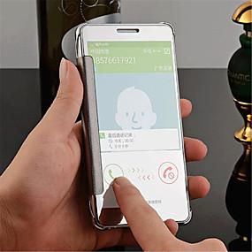 voordelige Galaxy A8 Hoesjes / covers-hoesje Voor Samsung Galaxy Samsung Galaxy hoesje Spiegel / Flip / Transparant Achterkant Effen PC voor A8 / A7 / A5