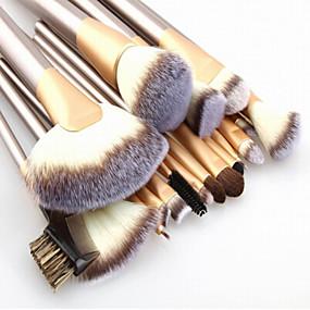 ieftine Produse Fard-Profesional Machiaj perii Seturi perie 24pcs Portabil Călătorie Ecologic Profesional Acoperire Integrală Păr sintetic Lemn Pensule de Machiaj pentru Pensulă Blush Perie Fond  Set Pensule Machiaj