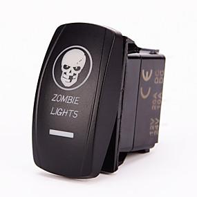 voordelige Schakelaars-iztoss laser blauw op-off tuimelschakelaar w / doorverbindingsdraad 5pin 20 amp 12 volt led verlichting - zombie verlichting