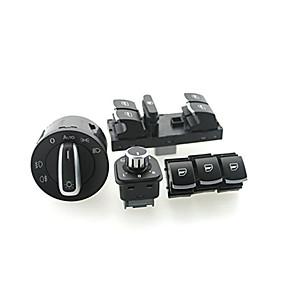 voordelige Schakelaars-iztoss koplamp raam schakelaar VW Passat B6 Jetta golf mk5 mk6 cc 5nd941431b / 5nd959857 / 5nd959855 / 5nd959565a 6set