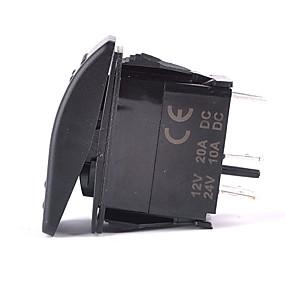 voordelige Schakelaars-iztoss 5pin laser mistlamp tuimelschakelaar aan-uit LED-licht 20a 12v blauw met draden te installeren