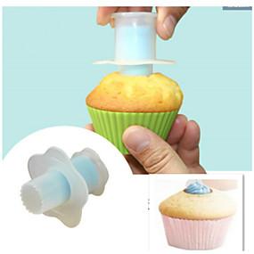 رخيصةأون المطبخ و السفرة-1PC بدعة كعكة بلاستيك اصنع بنفسك قوالب الكيك