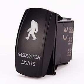 Недорогие Выключатели-iztoss 5pin лазерной Снежный тумблер включения-выключения света привело 20а 12v синий