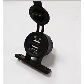 Недорогие Автомобильные зарядные устройства-Lossmann автомобильное зарядное устройство 5 В 3.1a 2 порта USB водонепроницаемый и пылезащитный тент зарядное устройство