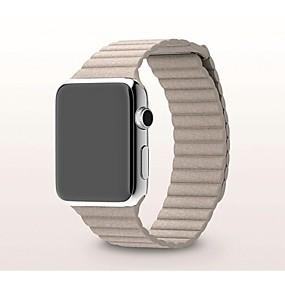 abordables Déstockage-Bracelet de Montre  pour Apple Watch Series 5/4/3/2/1 Apple Bracelet Milanais Vrai Cuir Sangle de Poignet