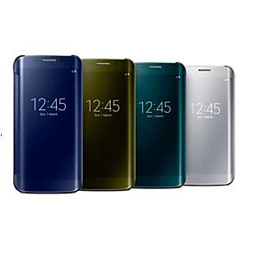 economico Galaxy S7 Edge Custodie / cover-Custodia Per Samsung Galaxy S7 edge / S7 / S6 edge Con sportello visore / A specchio / Con chiusura magnetica Integrale Tinta unita PC / Transparente