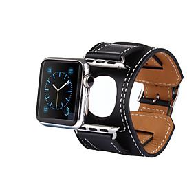 tanie Kupuj wg modelu telefonu-Watch Band na Apple Watch Series 4/3/2/1 Jabłko Klasyczna klamra Prawdziwa skóra Opaska na nadgarstek