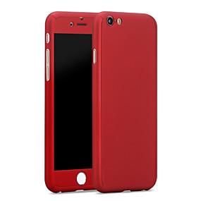 olcso Kiárusítás-Case Kompatibilitás Apple iPhone 6s Plus / iPhone 6s / iPhone 6 Plus Vízálló Fekete tok Egyszínű Kemény PC