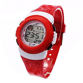 voordelige Digitale horloges-Kinderen Dames Sporthorloge Modieus horloge Digitaal horloge Japans Digitaal Zwart / Blauw / Rood 30 m Alarm Kalender Chronograaf Digitaal Cool - Zwart Rood Blauw Een jaar Levensduur Batterij / LCD