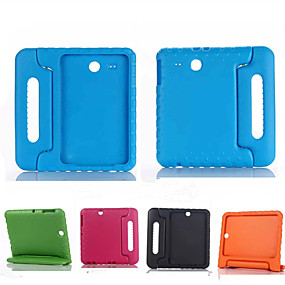 זול כיסויים / מכסים ל Galaxy Tab E 9.6-מגן עבור Samsung Galaxy Tab E 9.6 עמיד בזעזועים / עם מעמד / בטוח לשימוש ילדים כיסוי מלא אחיד סיליקון