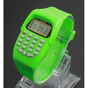 voordelige Digitale horloges-Kinderen Modieus horloge Digitaal horloge Japans Kwarts Digitaal Zwart / Blauw / Rood 30 m LCD Digitaal Dames Amulet - Paars Groen Blauw Een jaar Levensduur Batterij