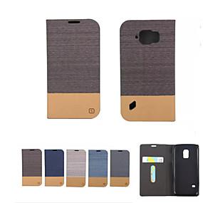 voordelige Galaxy S6 Edge Plus Hoesjes / covers-hoesje Voor Samsung Galaxy S8 Plus / S8 / S7 edge Portemonnee / Kaarthouder / met standaard Volledig hoesje Effen Zacht PU-nahka