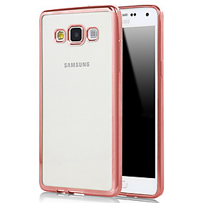 voordelige Galaxy A8 Hoesjes / covers-hoesje Voor Samsung Galaxy A3 (2017) / A5 (2017) / A7 (2017) Beplating / Transparant Achterkant Effen TPU