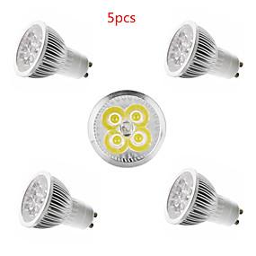 ieftine Spoturi LED-5pcs 4 W Spoturi LED 350 lm E14 GU10 GU5.3 4 LED-uri de margele LED Putere Mare Decorativ Alb Cald Alb Rece 85-265 V / 5 bc / CE