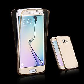 Недорогие Чехлы и кейсы для Galaxy A7(2016)-Кейс для Назначение SSamsung Galaxy A3 (2017) / A5 (2017) / A7 (2017) Прозрачный Чехол Однотонный ТПУ