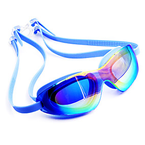 olcso Vízi sportok-Úszás Goggles Vízálló Páramentesítő Vényköteles Tükrözött Silica Gel PC Fehér Rózsaszín Fekete Rózsaszín Fekete Kék