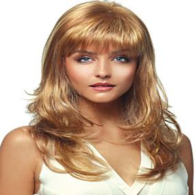 ieftine Sănătate & Înfrumusețare-Peruci Sintetice Buclat Buclat Perucă Blond Mediu Blond Păr Sintetic Pentru femei Blond