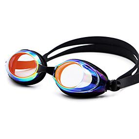 olcso Vízi sportok-Úszás Goggles Páramentesítő Vényköteles Tükrözött Silica Gel PC Fehér Fekete Kék Piros Fekete Kék