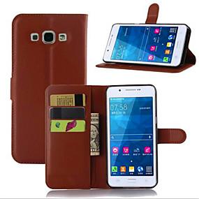 Недорогие Чехлы и кейсы для Galaxy A8-Кейс для Назначение SSamsung Galaxy A7(2016) / A5(2016) / A3(2016) Бумажник для карт / со стендом / Флип Чехол Однотонный Кожа PU
