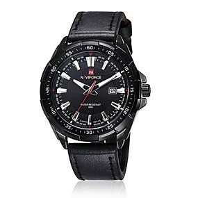 Недорогие Фирменные часы-Муж. Наручные часы Кварцевый Японский кварц Кожа Черный / Коричневый 30 m Защита от влаги Календарь Аналоговый Классика - 2 # 3 # 4 # / Нержавеющая сталь