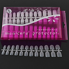رخيصةأون المكياج-288PCS False Nails من أجل إصبع متعددة تصميم فن الأظافر تجميل الأظافر والقدمين بسيط / ملخص / كلاسيكي مناسب للبس اليومي