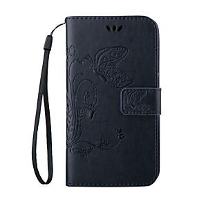 Недорогие Чехлы и кейсы для Galaxy S5 Mini-Кейс для Назначение SSamsung Galaxy S8 Plus / S8 / S7 edge plus Кошелек / Бумажник для карт / со стендом Чехол Бабочка Мягкий Кожа PU