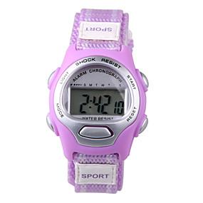 voordelige Digitale horloges-Sporthorloge Digitaal horloge Digitaal Blauw / Paars Vrijetijdshorloge Digitaal Dames Amulet Modieus - Paars Blauw
