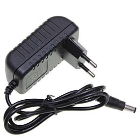 olcso LED szalagfény tartozékok-brelong 1 db eu dugó 12v 1a 5,5 x 2,1 mm vezető szalag fény / cctv biztonsági kamera monitor tápegység adapter dc2.1 ac100-240v