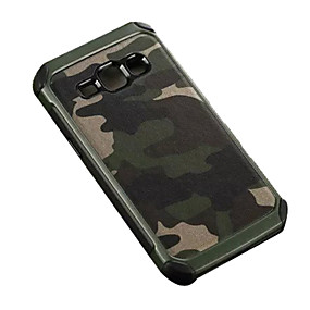 voordelige Galaxy J7 Hoesjes / covers-hoesje Voor Samsung Galaxy J7 / J5 / J2 Schokbestendig Achterkant Camouflage Kleur PC