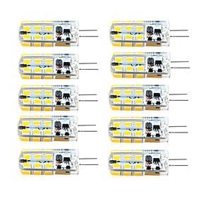 رخيصةأون مصابيح ليد ثنائية-brelong 10 قطع g4 عكس الضوء 2.5 واط 24led smd2835 الذرة ضوء أبيض / دافئ أبيض / ac12v / dc12v / ac220v