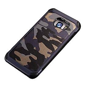 voordelige Galaxy S7 Hoesjes / covers-hoesje Voor Samsung Galaxy S7 Active / S7 plus / S7 edge Schokbestendig / Patroon Achterkant Camouflage Kleur PC
